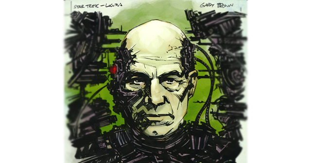 Locutus of Borg - Image by Garry Brown http://thisismyboomstick.deviantart.com/ Colored by Mike Spicer http://spicercolor.deviantart.com/